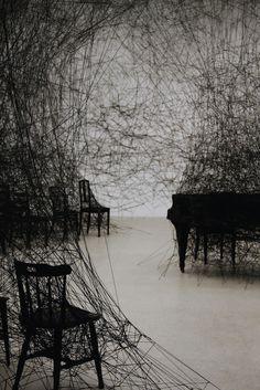 Chiharu Shiota's fascinating installations Bühnen Design, Modern Art, Contemporary Art, Instalation Art, Wow Art, To Infinity And Beyond, Art Abstrait, Japanese Artists, Art Plastique