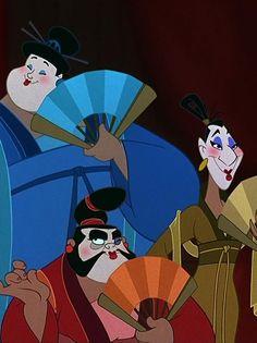 *RT - LT: CHIEN PO, YAO & LING ~ Mulan