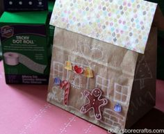 Dollar Store Crafts » Blog Archive » Tutorial: Lunchsack Gingerbread House
