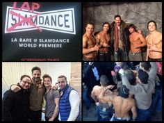 Joe Manganiello with the guys from La Bare at Slamdance/ Lapdance.