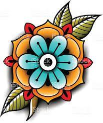 Resultado de imagen de flor old school tattoo