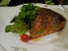 Delicious vegetable quiche at TWG