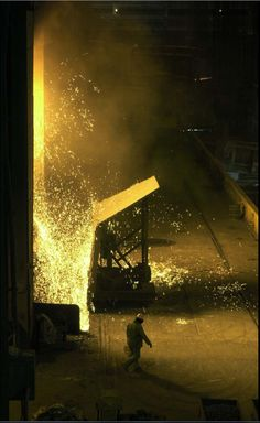 APRIL 9, 2003: Molten metal heats in the Furnace at Bethlehem Steel at Sparrows Point. (Algerina Perna/Baltimore Sun)