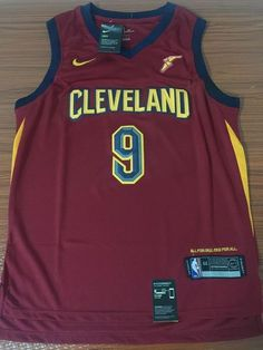 50cf68d02 Men CAVS 9 Dwyane Wade Jersey Red Cleveland Cavaliers Fanatics Icon edition
