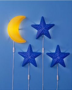 IKEA SMILA CHILDRENS WALL LIGHT STAR MOON LAMP NIGHT SOFT MOOD KIDS BLUE   uk.picclick.com