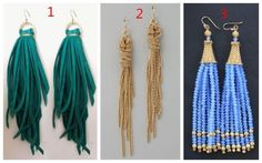 Three #Tassel #Earrings , how do you vote? https://henryjewel.wordpress.com/2014/11/25/three-tassel-earrings-how-do-you-vote/
