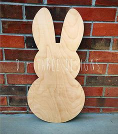 Wooden Bunnies Wooden Rabbits Easter Bunny by DPlusThreeDesigns