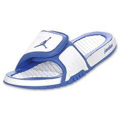 Men's Jordan Hydro 2 Slide Sandals| FinishLine.com | White/Blue