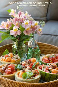 Chicken Melon Salad Bowls