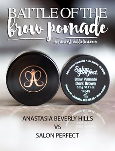 Battle of the Brow Pomade: Anastasia Beverly Hills Dipbrow Pomade vs Salon Perfect Brow Pomade