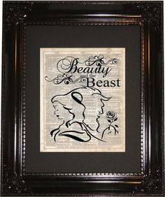 Hey, I found this really awesome Etsy listing at https://www.etsy.com/listing/204756541/beauty-and-the-beast-dictionary-art