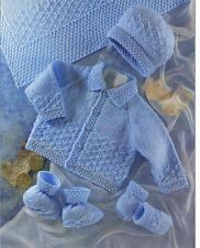 Crochet Baby Mittens Knit Baby Jacket Cardigan Hat Mittens Booties Vintage Pattern knitting pullover hat beanie clothes g - Baby Sweater Patterns, Baby Cardigan Knitting Pattern, Knitted Baby Cardigan, Knit Baby Sweaters, Knitted Baby Clothes, Baby Patterns, Baby Boy Knitting Patterns Free, Knitted Booties, Baby Knits