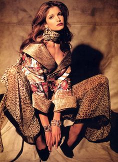 Stephanie Seymour photo 98 of 272 pics, wallpaper - photo - Stephanie Seymour, 1990s Supermodels, Original Supermodels, Valentino Couture, 80s And 90s Fashion, Fashion 2020, Vogue Fashion, Fashion Beauty, Leopard Fashion