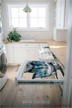 Mudroom Laundry Room, Laundry Room Remodel, Laundry Room Organization, Laundry In Bathroom, Organization Ideas, Laundry Sorter, Laundry Storage, Laundry Hacks, Laundry Room Drying Rack