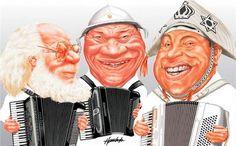 Sivuca , Dominguinhos , Luiz Gonzaga ( caricatura )