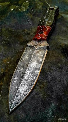 Knife Gabe Knudsen Torbe Custom Knives Compact Tactical Tanto Fixed Blade Knife Extrema Ratio ER Commando Knife Fixed Blade Damascus Knife, Damascus Steel, Damascus Blade, Swords And Daggers, Knives And Swords, Lame Damas, Trench Knife, Armas Ninja, Sculpture Metal