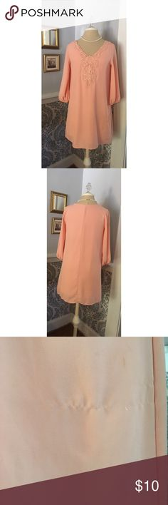 Pastel pink dress with slip built in Beautiful pastel pink long sleeve dress with slip built in Sage Dresses Mini