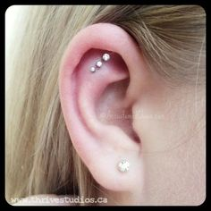 Really cute ear piercings