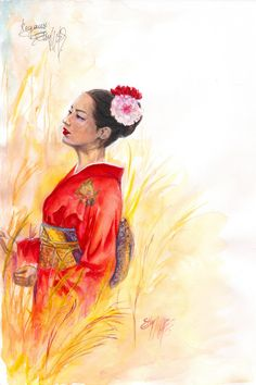 Check out this item in my Etsy shop https://www.etsy.com/listing/251842389/original-watercolor-painting-sayonara