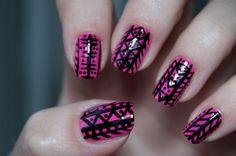 Essie Lights Seche vite Top coat H&m 2 way nail art black