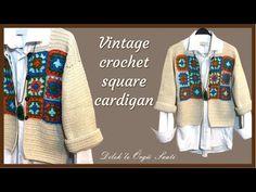 Cardigan Vintage, Vintage Crochet, Sewing Patterns, Kimono Top, Youtube, Sweaters, Tops, Women, Fashion