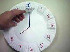 Apprendre l'heure avec une assiette en carton | La cabane à idées