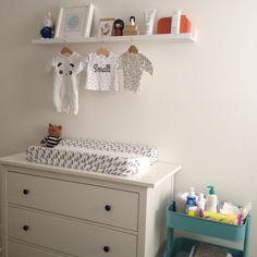 Nursery decoration hemnes dresser raskog trolley ikea miffy klm laredoute baby clothing