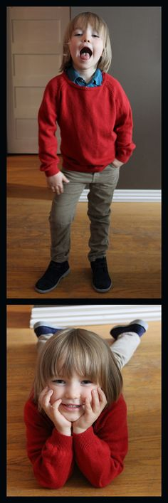 Little boy style. Knit Sweater: Zara, Polo Undershirt: Quicksilver, Cords: HM, Shoes: Hush Puppies. Fall fashion for boys.
