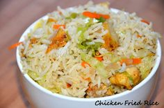 .....my culinary adventures: Chicken Fried Rice (Indo- Chinese Style)