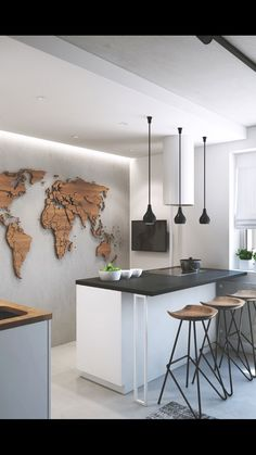 I could see this world map on my wall.