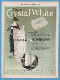 1918 Peet's Crystal White Soap Kansas City San Francisco Kitchen Laundry Room Ad