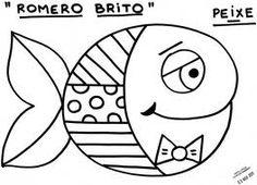 Obras de Romero Britto para colorir Craft Art lessons and Doodles