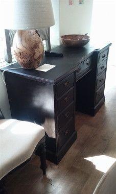 Antique desk hand painted in Annie Sloan Graphite