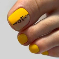 Over 50 Incredible Toe Nail Designs for Your Perfect Feet - Yellow Toe Nails Matte Designs ❤Over 50 Incredible Toe Nail Designs for Your Perfect Feet ❤ See - Yellow Toe Nails, Toe Nail Color, Blue Nail, Toe Nail Art, Nail Colors, Brown Nail, Toe Designs, Pedicure Designs, Manicure E Pedicure