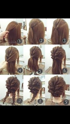 (easy updo hairstyles tutorials)