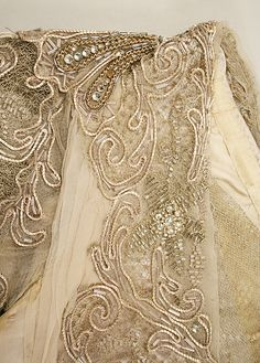 Haute Couture Charles Frederick Worth evening dress gown circa from 1910.