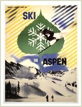 Ski In Aspen Poster, Size 22 x 28 inches