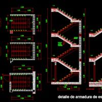 Stairs (dwg - Autocad drawing) - 2d Stairways Projects