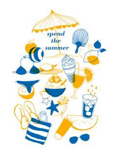 summer poster illustration instagram @moreparsley_