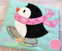 Skating Penguin - Have you ever seen a skating penguin? Now you have! This adorable penguin is ready for Winter and ready for your holiday projects. Great design for both boys and girls.
