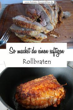 So machst du einen saftigen Rollbraten  #Rollbraten #Römertopf Healthy Breakfast Recipes, Pork, Low Carb, Beef, Dressings, Culture, Chef Recipes, Meatloaf, Delicious Dishes