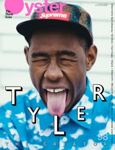 Tyler, the Creator on the cover of Oyster magazine