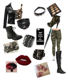 """""""The apocalypse in style"""" by stunne ❤ liked on Polyvore featuring WearAll, Valentino, Joie, Chicnova Fashion, Lime Crime, WithChic, Fleet Ilya, Barbara Bui and Casetify"""