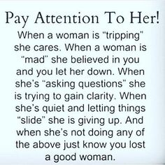 More men should really pay attention to this. Make sure she doesn't get to the 'slipping' part!