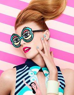 Beautiful and bright shoot for Vogue Nippon by Lacey and Andrew Gallimore using Craig & Karl illustrations. Beth Fenton, Stylist
