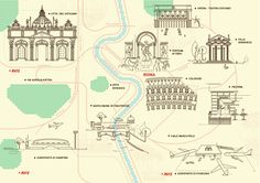 Avis Car Hire Illustrated Maps by Will Scobie, via Behance