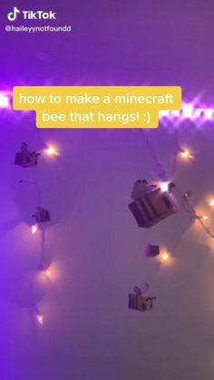 Minecraft Room Decor, Minecraft Decorations, Minecraft Crafts, Minecraft Designs, Minecraft Stuff, Indie Room Decor, Cute Bedroom Decor, Aesthetic Room Decor, Room Ideas Bedroom