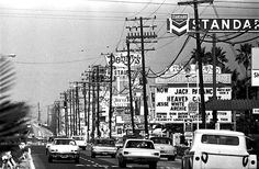 Harbor Blvd, Anaheim, CA across the street from Disneyland, circa late 1960's.