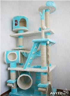 Cat Tree House, Cat House Diy, Diy Cat Tower, Cat Castle, Cool Cat Trees, Cat Hotel, Cat Towers, Cat Playground, Animal Room