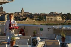 With Arles in the background, we enjoyed a final glass of rose on A-ROSA Stella. Rivers, Cruise, France, Wine, Glasses, Travel, Eyewear, Eyeglasses, Cruises